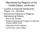 manufacturing regions of the united states continued