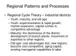 regional patterns and processes
