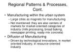 regional patterns processes cont