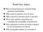 some key topics
