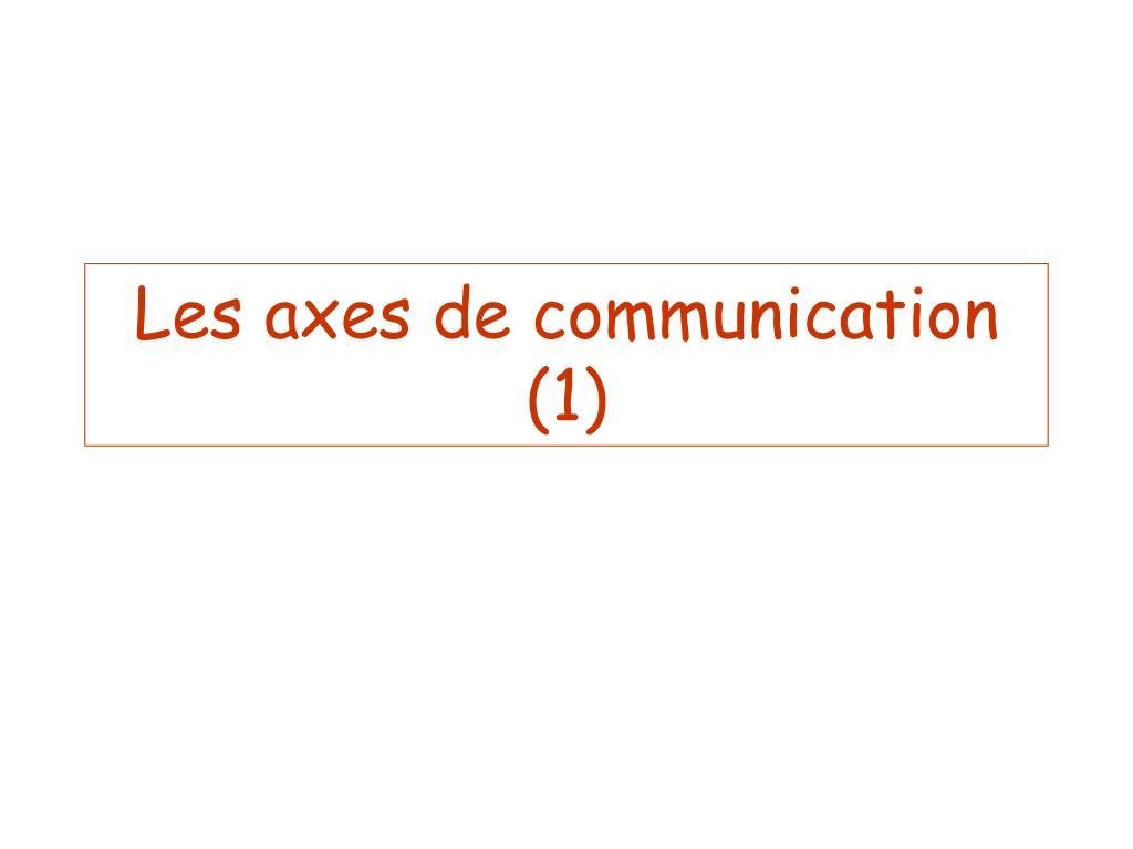 Les axes de communication (1)