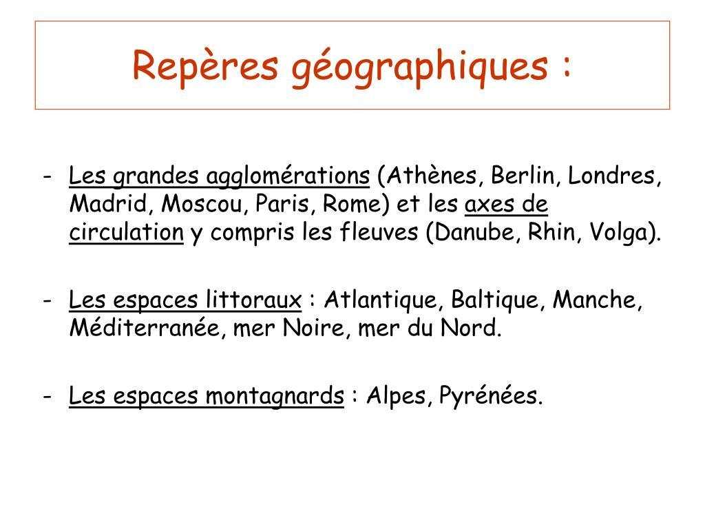 Repères géographiques :
