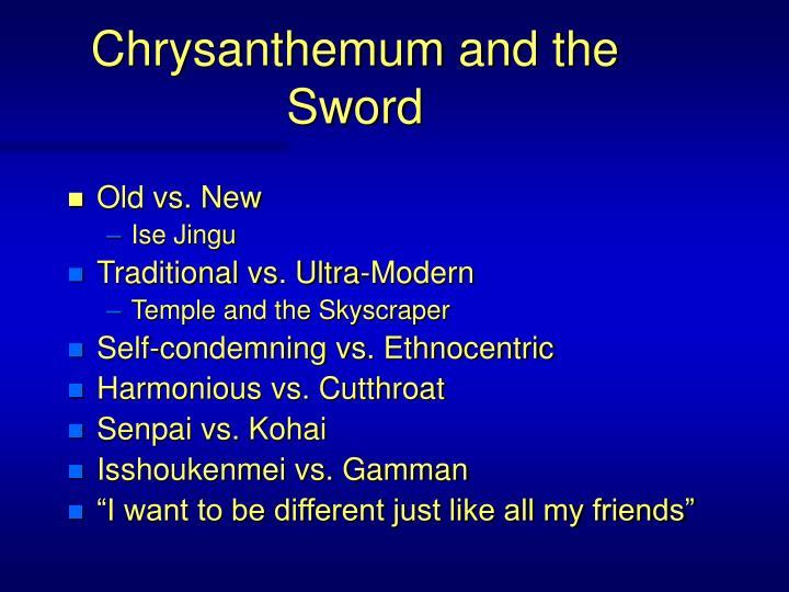 Chrysanthemum and the Sword