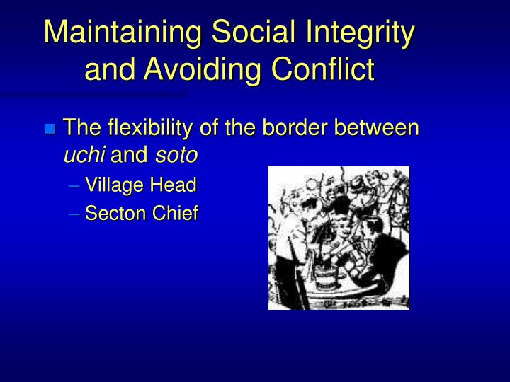 Maintaining Social Integrity and Avoiding Conflict