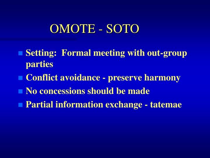OMOTE - SOTO
