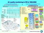 air quality monitoring in cr in 1992 2002