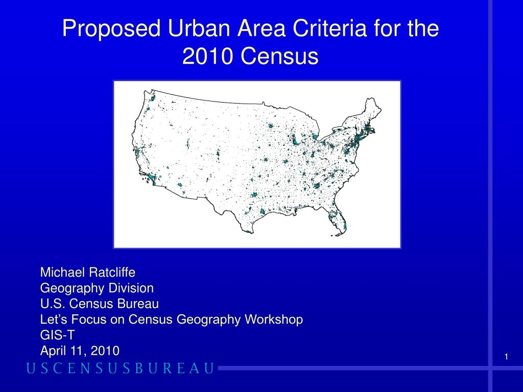 proposed urban area criteria for the 2010 census l.