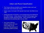 urban and rural classification