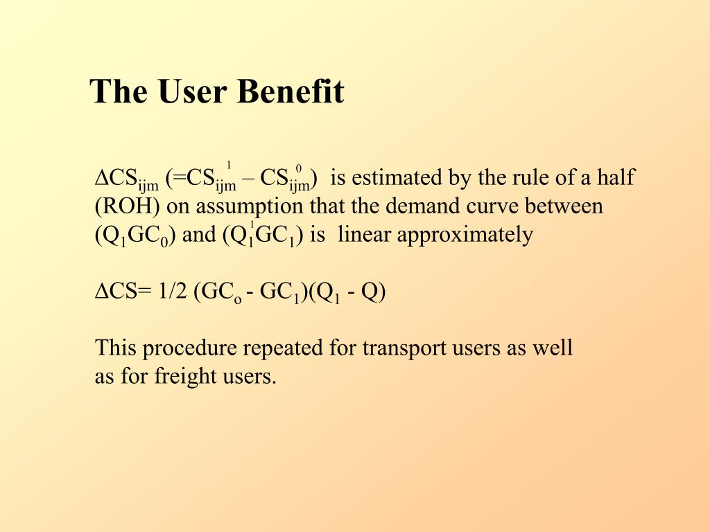 The User Benefit