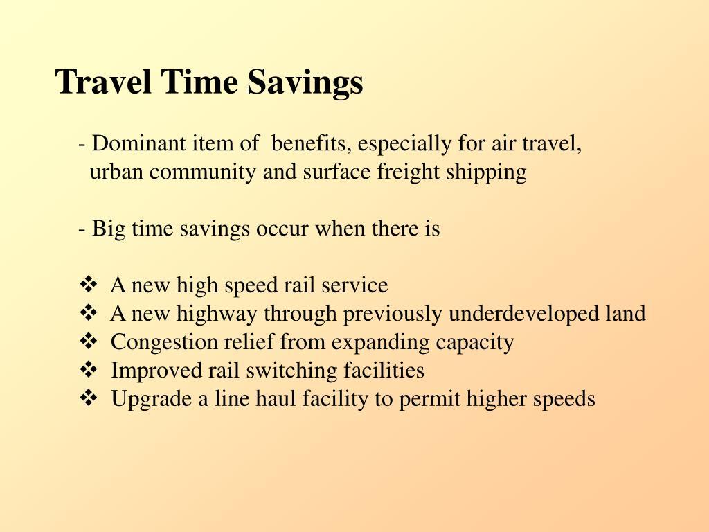 Travel Time Savings