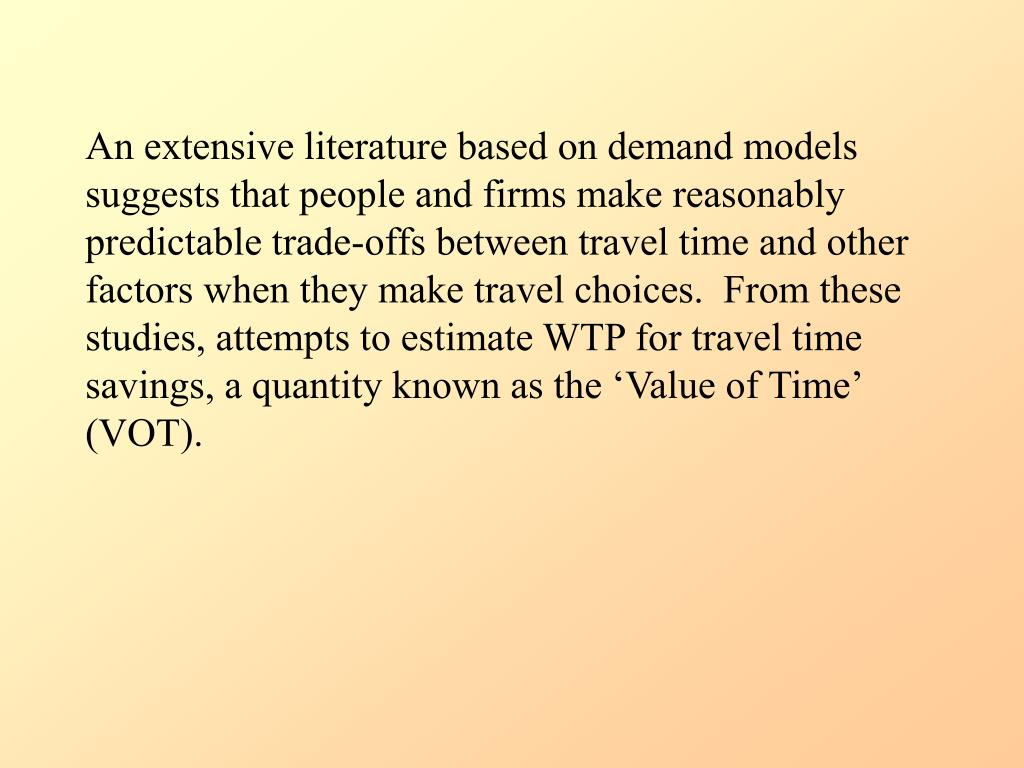 An extensive literature based on demand models