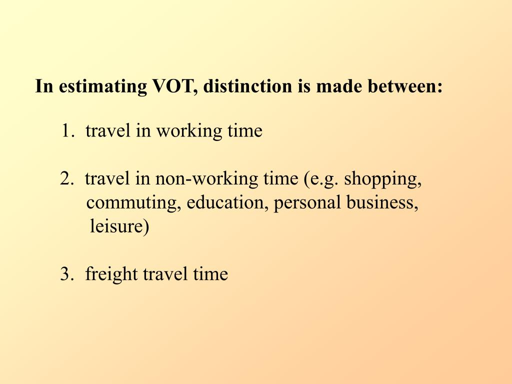 In estimating VOT, distinction is made between: