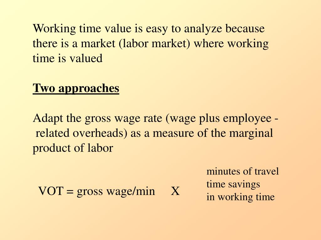Working time value is easy to analyze because there is a market (labor market) where working time is valued