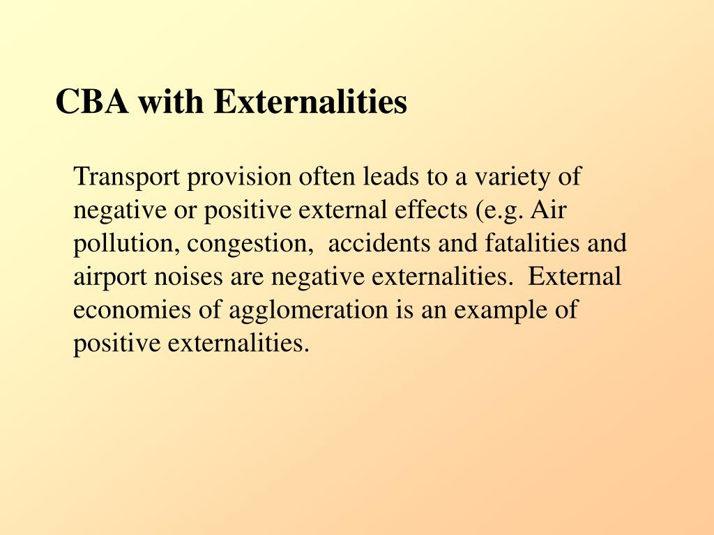 CBA with Externalities