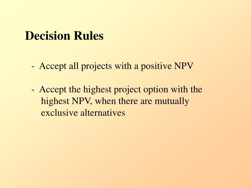 Decision Rules