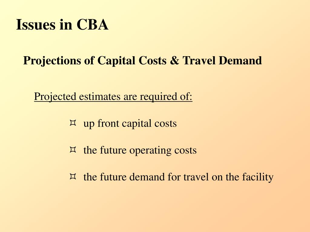 Issues in CBA
