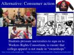 alternative consumer action