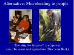 alternative microlending to people