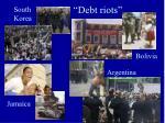 debt riots