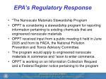 epa s regulatory response