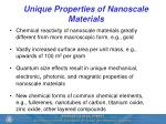 unique properties of nanoscale materials