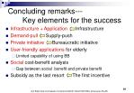 concluding remarks key elements for the success