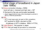 initial stage of broadband in japan late 1990s