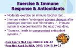 exercise immune response antioxidants
