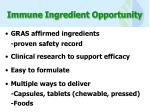 immune ingredient opportunity