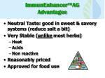 immunenhancer ag advantages