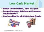 low carb market