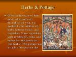 herbs pottage