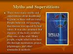 myths and superstitions