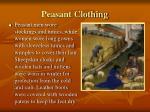 peasant clothing