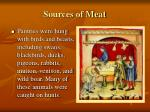 sources of meat