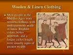 woolen linen clothing