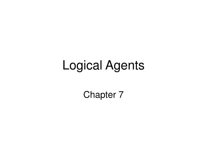 logical agents n.