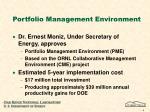 portfolio management environment
