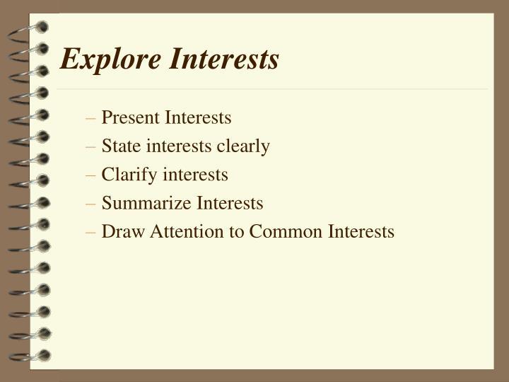 Explore Interests