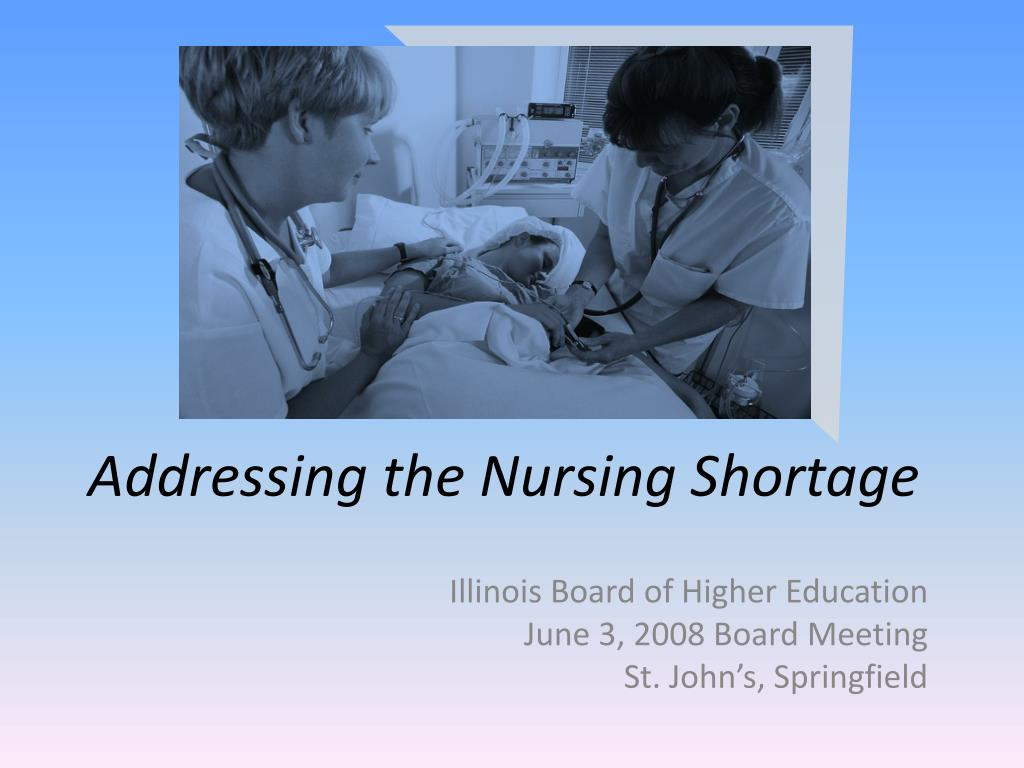addressing the nursing shortage l.