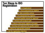 ten steps to iso registration