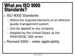 what are iso 9000 standards