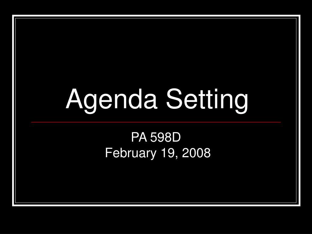 agenda setting l.