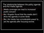 the relationship between the policy agenda and the media agenda