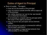 duties of agent to principal7