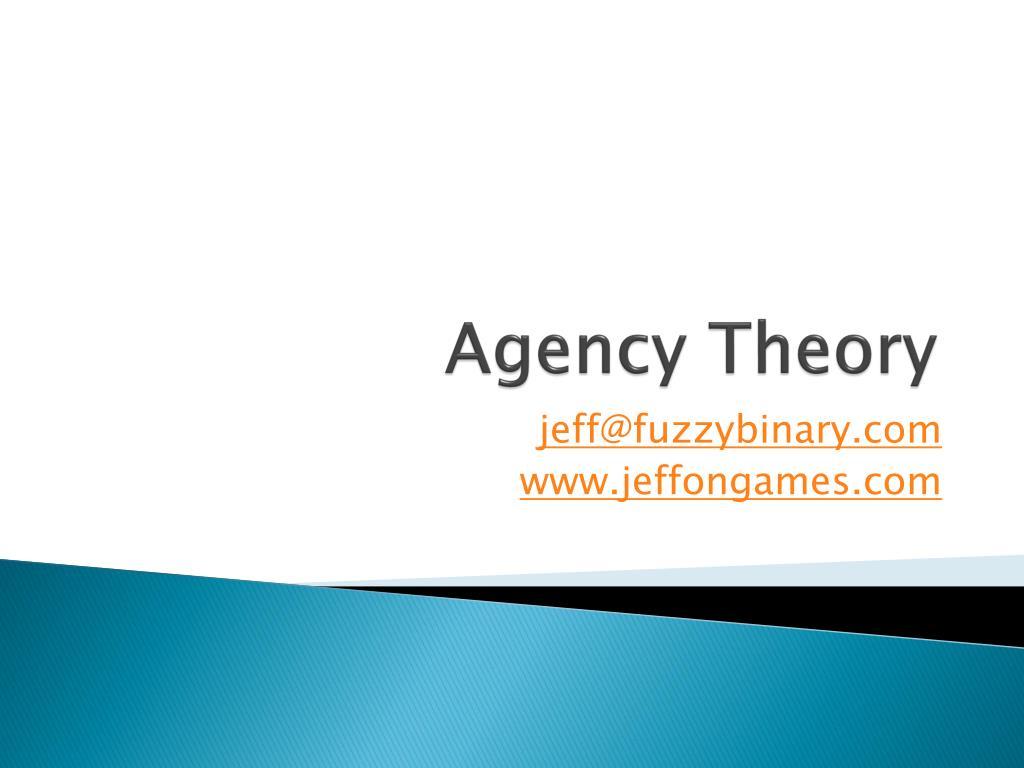 agency theory l.