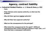 agency contract liability