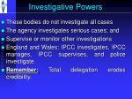 investigative powers