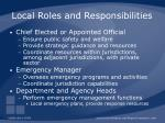 local roles and responsibilities