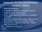 national animal identification system nais